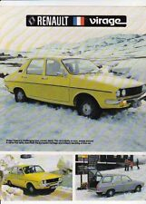 1978 RENAULT VIRAGE 2 Page Australian Brochure Like 12 and 1.4