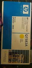Genuine HP Q7582A  Yellow Toner Cartridge - Factory Sealed