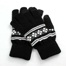 NEW Luxury Men Leather Winter Super Driving Warm Gloves Cashmere Vogue Gloves