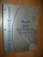2005 FORD CAR TRUCK ENGINE EMISSION FACTS SUMMARY MANUAL ORIGINAL BOOK MUSTANG +