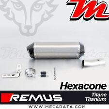 Silencieux échappement Remus Hexacone titane sans Pare Chaleur BMW R1200 RT 2015
