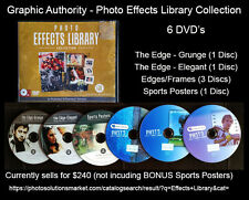 Photoshop - PHOTO EFFECTS LIBRARY Design Elements, Brushes, Templates (6 DVD's)
