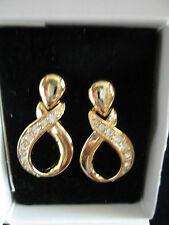"AVON CLASSICAL GOLDEN CLIP EARRINGS  """"NEW IN BOX"""""