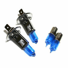 H1 H6W 55w Upgrade ICE Blue Xenon HID Low/Side Light Beam Headlight Bulbs