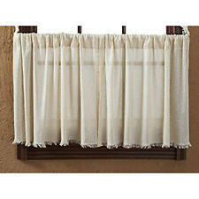 """Tobacco Cloth Natural Tier Set by VHC Brands - Lined - 24"""" x 36"""""""