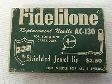 Fidelitone Phonograph Replacement Needle   AC-130 For Sonotone
