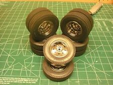 ALL TRACTOR TRAILER RIMS WHEELS TIRES 1/14 COMBO BEARING 9825456 TAMIYA STOCK