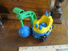 Fisher Price Little People Construction Garage Wrecking ball crane vehicle toy