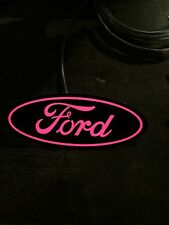 "PINK light Up Ford Grill Emblem 7"" F250 F350 F450 F550 F150"