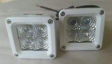"""2 PACK - White CREE Marine LED Boat light LED Spreader Lights 3"""" Cube"""
