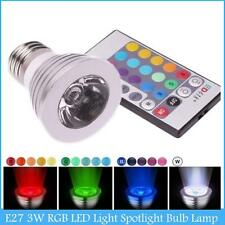 E27 RVB Lampe Ampoule LED 16 changeant de couleur à distance + 24Key Remote ED