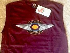 Harley Davidson winged Bar And Shield sleeveless Shirt Nwt Men's Medium