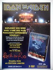 "PUBLICITE-ADVERTISING :  IRON MAIDEN  2002 pour la sortie de ""Rock In Rio"""