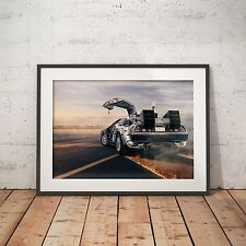 Back to the Future DeLorean DMC-12 - A4 Poster - FREE Shipping