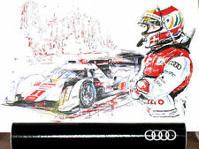 Audi R18 e-tron quattro 24h Le Mans 2014 Press/Launch Tom Kristensen Poster/Bild