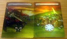 2 FOIL MTG LANDS ALTERED ART LINK VS GANONDORF LEGEND OF ZELDA COMMANDER EDH