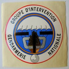 Autocollant GIGN Groupe Intervention Gendarmerie Nationale ancien et authentique
