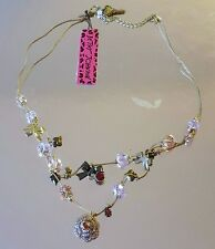 BETSEY JOHNSON CRYSTAL BIB NECKLACE 45$ NWT 100% AUTHENTIC