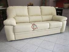 divano imbottito 3 posti in ecopelle pelle salotto di ottima qualità italy divan