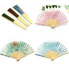 Handfächer Klappfächer Taschenfächer Sommer Fächer Bambus Stoff Schönem Motiv