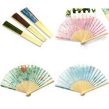 Handfächer Klappfächer Taschenfächer Sommer Fächer Bambus Stoff Schönem