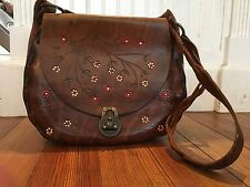 Canale Vintage Hand Tooled Leather Hippie Handbag *NOW REDUCED*