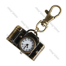 Charm Camera Quartz Pocket Key Chain Ring Watch Pendant Kids Gift