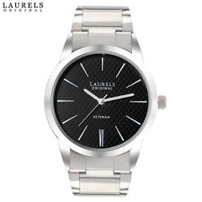 Laurels Polo 1 Analog Black Dial Stainless Steel Chain Men's Watch