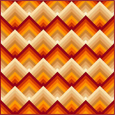 """NEW - RATIONALITY - Red - 69"""" - Pre-cut Quilt Kit by Quilt-Addicts Double size"""