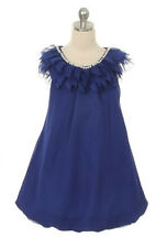 New Flower Girls Royal Blue Chiffon Yoru Dress Size 6 Party Fancy Graduation