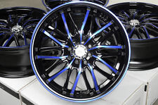 "17"" Blue Effect Wheels Rims 4 Lugs Ford Escort Honda Civic Accord Corolla Jetta"