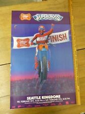 """ORIGINAL Vintage """"Supercross Seattle Kingdome """" Poster by McIntire 1985 24"""" x36"""""""
