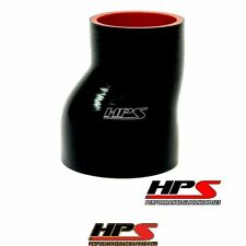 """HPS High Temp 2.5""""   3"""" ID x 3"""" 4-ply Silicone Offset Reducer Coupler Hose Black"""
