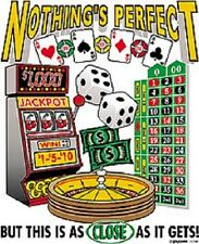 """CASINO SLOT MACHINE w Roulette, Games on ONE 18"""" x 22""""  Fabric Panel -SALE!"""