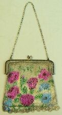 A LOVELY ART DECO SILVER PLATED CHAIN MAIL PURSE / BAG C.1930