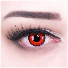Farbige Halloween Kontaktlinsen Volturi rot rote ohne Stärke Crazy Fun Linsen