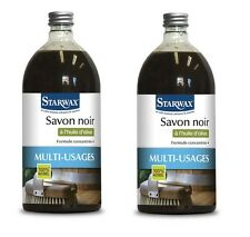 LOT 2 Savon noir à l' huile d' olive 1L 1261 STARWAX maison linge jardin