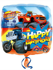 "Blaze & The Monster Machines Party Decoration Happy Birthday 18"" Foil Balloon"