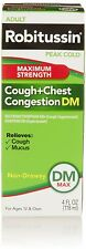 Adult ROBITUSSIN Peak Cold COUGH + CHEST CONGESTION DM Maximum Strength 4 fl. oz