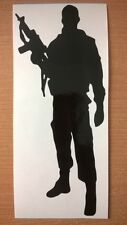 british troops armed forces army man soldier gun vinyl silhouette car sticker us