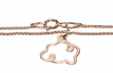 Rose Gold Over Sterling Silver Cloud Pendant Celebrity Layered Style Necklace