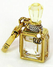 NWT Juicy Couture Perfume Fragrance Bottle Charm 2011 Gold Tone YJRUS267 RARE