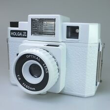 HOLGA 120GFN 120 GFN Medium Format Film Glass Lens Camera Flash 6x6 White Color