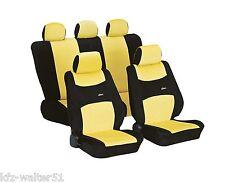 Für FIAT Cinquecento Schonbezug Sitzbezüge Sitzbezug Colori gelb schwarz
