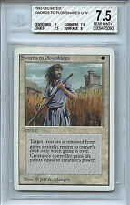 MTG Unlimited Swords To Plowshares BGS 7.5 NM+ Card Magic the Gathering  5093