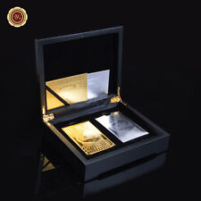 Set Of 2 $100 24k Gold & Silver Playing Cards /w Box Certificate of Authenticity