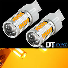 2X 560 Lumens 7443 Yellow Amber High Power LED Projector Turn Signal Light bulbs