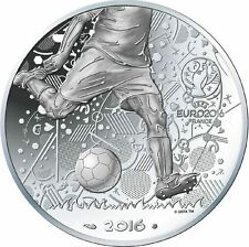 FRANCE 10 Euros Argent Coupe de l'UEFA 2016 UNC Silver coin Football