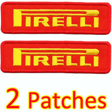 2 x PIRELLI Super RED Advertising Iron Patch Racing Yamaha Ducati Honda Suzuki