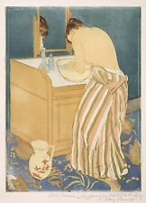 Mary Cassatt Reproductions: Woman Bathing - Fine Art Print